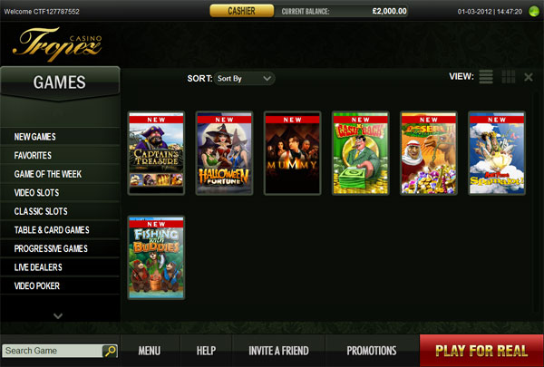 List of Casino Games Online